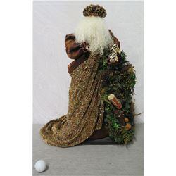 "Santa 'Over the Koolaus' Signed Ione Adams, 26"" Tall"