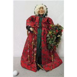 "Mrs. Santa Figurine 'Over the Koolaus, Kaneohe' By Ione Adams 26"" Tall"