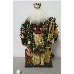 "Hawaiian Santa 'Over the Koolaus, Kaneohe' By Ione Adams, 28"" Tall"