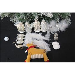 Qty Approx. 12 Christmas Tree Ornaments: Wise Men, Reindeer, Peacocks, etc