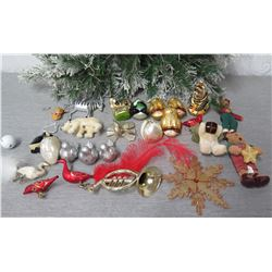 Qty Approx. 23 Christmas Tree Ornaments: Bears, Birds, Zebras, etc