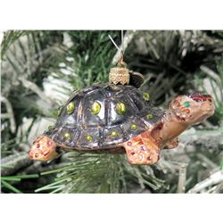 "Jay Strongwater Christmas Tree Ornament Beaded Turtle 4"" Long"