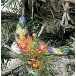 "Jay Strongwater Christmas Tree Ornament Beaded Bird 3"" Long"