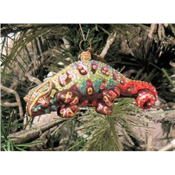 """Jay Strongwater Christmas Tree Ornament Beaded Reptile 4"""" Long"""