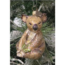 "Jay Strongwater Christmas Tree Ornament Beaded Koala Bear 3.5"" Long"