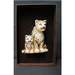 """Jay Strongwater Christmas Tree Ornament Beaded 2 Jaguars in Box 5"""" Long"""