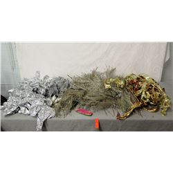Misc Silver & Gold Colored Bows, Snowflakes & Decorations