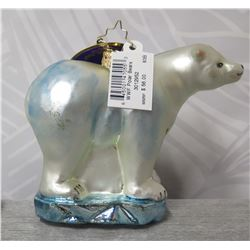 "Christopher Radko WWF Polar Bear in Box Made in Poland 6"" Long"