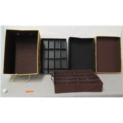 """Frontgate Ornament Storage Box w/ 3 Trays for Ornaments & Lid 22"""" x 14"""" Ht"""