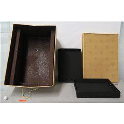Ornament Storage Box w/ 2 Trays for Multiple Ornaments & Lid 32 x 18 x 23