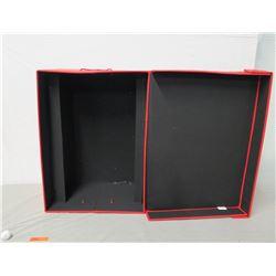 "Frontgate Red Ornament Storage Box w/  Lid 22"" x 14"" Ht"
