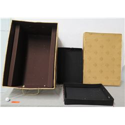 """Ornament Storage Box w/ 2 Trays for Multiple Ornaments & Lid 22"""" x 14"""" Ht"""