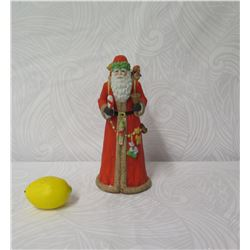 """Schmid Musical Collectibles Santa w/ Basket of Toys, Approx. 11.5"""" Tall"""