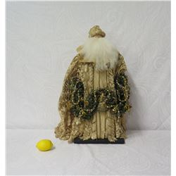 "Santa in Gold Robe 'Over the Koolaus' Signed Ione Adams, 27"" Tall"