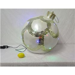 Giant Christmas Ball Ornament Light-Up Holiday Decor (lemon shown for sizing perspective)