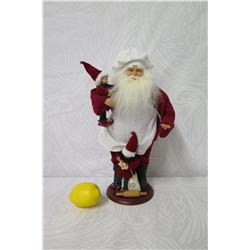 """Santa 'Baking Chef' with Two Elves, Approx. 16"""" Tall"""