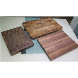 "Qty 3 Wooden Chopping Boards - 15""x10"" / 20""x14"" / 16""x12"""