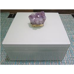 Individual Amethyst Geode Glass Box (Retail $69)