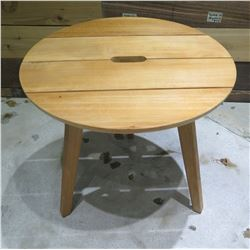 "Wooden Round 4 Leg Table 20"" Diameter x 18"" high"