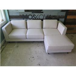 """Berman Falk Sectional 3 Seat Sofa w/ Ottoman 85"""" x 25"""" x 26"""" H"""