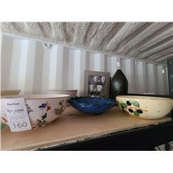 Vase & Serving Bowls