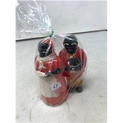 Vinatge Aunt Jemima and Mose Salt and Pepper Shakers