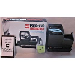 BOXED GAF PANA-VUE AUTOMATIC LIGHTED 2X2 SLIDE VIEWER