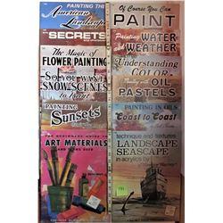 12 ASST VINTAGE HOW TO PAINT ART BOOKS