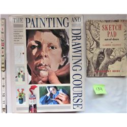 1988 H/C PAINTING & DRAWING COURSE BOOK, 1962 SKETCH PAD OUT OF DOORS S/C MANUAL