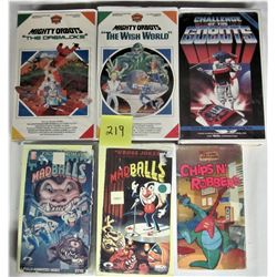 LOT OF 6 ANIMATED CARTOON VHS MOVIES VINTAGE 1980'S