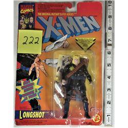 NEW 1993 MARVEL COMICS XMEN LONGSHOT ACTION FIGURE