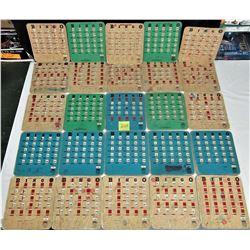 25 ACME STITCHED RE-USEABLE FINGER TIP SLIDER BINGO CARDS