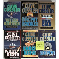 LOT 6 S/C CLIVE CUSSLER ACTION ADVENTURE MYSTERY BOOKS