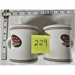 PAIR CERAMIC A&W CLASSIC ROAST COFFEE CUPS