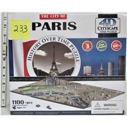 NEW CITY OF PARIS 1100 PC 4D CITYSCAPE TIME PUZZLE