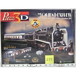 """1994 PUZZ 3D WREBBIT """"THE ORIENT EXPRESS"""" 769 PCS"""