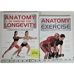2 ANATOMY OF EXERCISE & LONGEVITY S/C BOOKS