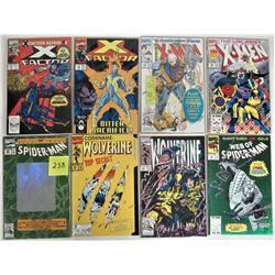 "LOT 8 COLLECTOR COMICS ""KEY ISSUES"", SPIDERMAN, WOLVERINE, X-FACTOR, XMEN, UNCANNY XMEN"