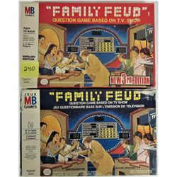 BOTH 1977 & 1978 FAMILY FUED BOARD GAMES