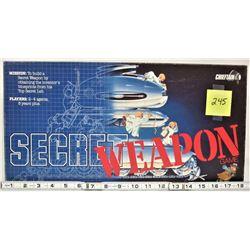 1984 CHIEFTAN SECRET WEAPON DETECTIVE BOARD GAME