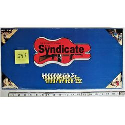 1986 THE SYNDICATE GODFATHER 1-4 PERFECT CRIME BOARD GAME