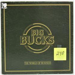 1986 BIG BUCKS WORLD OF BUSINESS FINANCIAL BOARD GAME