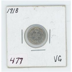 1918 Canada 5 Cent Coin