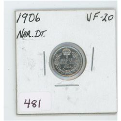 1906 Canada 5 Cent Coin