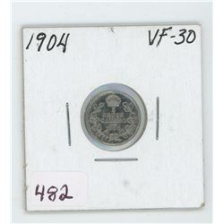 1904 Canada 5 Cent Coin