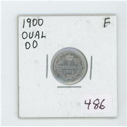 1900 Canada 5 Cent Coin