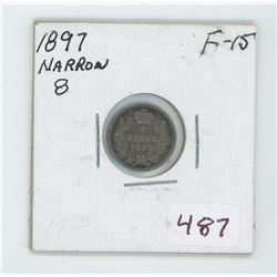 1897 Canada 5 Cent Coin