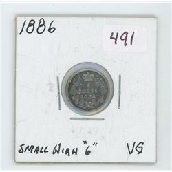 1886 Canada 5 Cent Coin