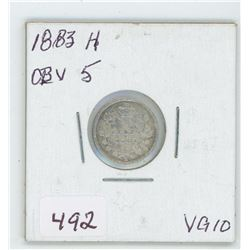 1883 Canada 5 Cent Coin