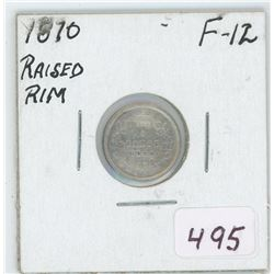 1870 Canada 5 Cent Coin